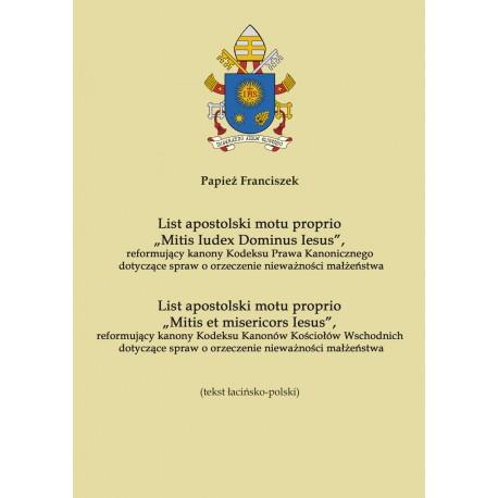 "List apostolski motu proprio ""Mitis Iudex Dominus Iesus"""