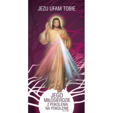 Baner na Rok Miłosierdzia Bożego  - JEZU UFAM TOBIE (J1)