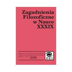 Zagadnienia Filozoficzne w Nauce nr XXXIX