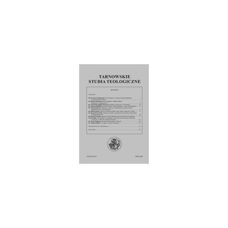 TARNOWSKIE STUDIA TEOLOGICZNE Tom XXVII/2