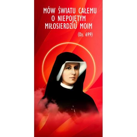 Baner na Rok Miłosierdzia Bożego (siostra Faustyna)