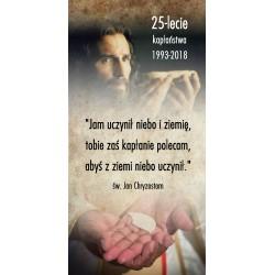 BANER DEKORACYJNY 25 lat kapłaństwa 1993-2018