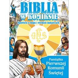 Biblia w komiksie - wydanie w obwolucie pierwszokomunijnej