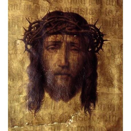 Baner Dekoracyjny - Twarz Jezusa w cierniowej koronie