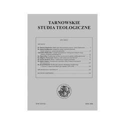 TARNOWSKIE STUDIA TEOLOGICZNE Tom XXVII/1