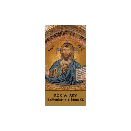 BANER DEKORACYJNY NA ROK WIARY Chrystus Pantokrator (wysyłka gratis)